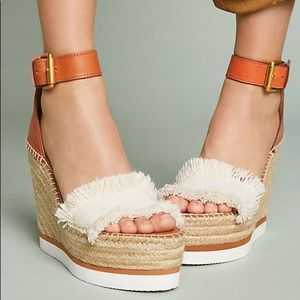 NEW See by Chloe Glyn Espadrille Wedges